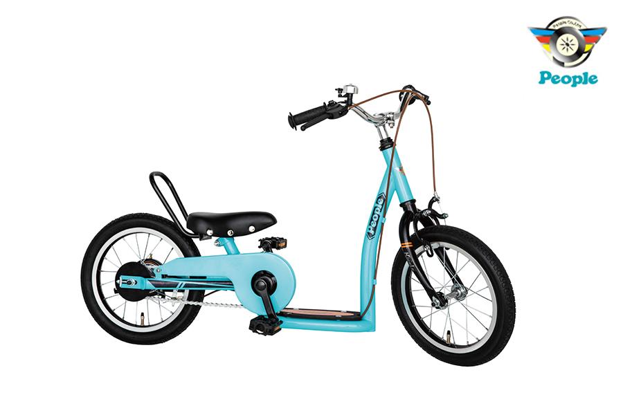 成長に合わせて長~く乗れる新しい設計で キックスケーター キックバイク 自転車の3パターンで楽しめる 自転車 子供 3歳 キックル 14インチ ピープル 色:フレンチブルー 誕生日 People 至上 出群 メタリックレッド キッズ 孫 kids プレゼント or