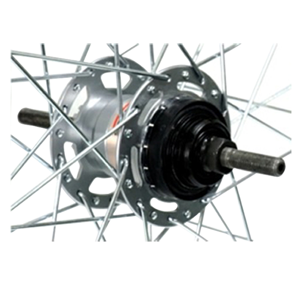 お求めやすく価格改定 27インチ用 リアホイール 品質保証 アルミリム27x1 3 内装3段ローラーブレーキ仕様 軸長182mm 8
