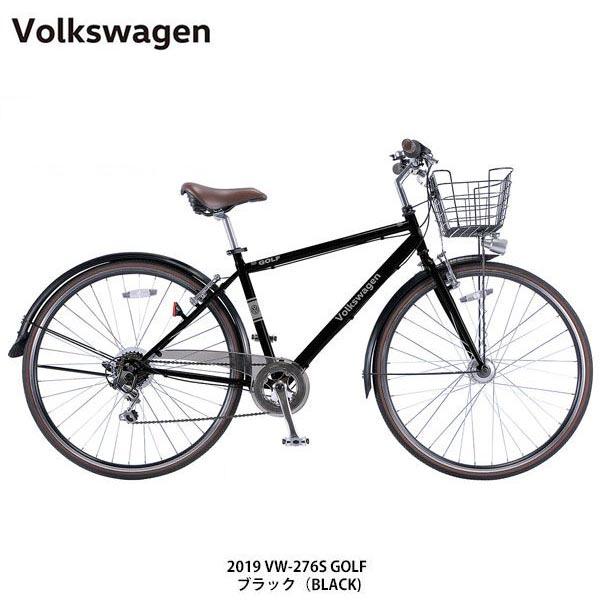 【ポイント10倍! 4/1-4/5】Volkswagen フォルクスワーゲン 自転車 VW-276S GOLF〔19 VW-276S GOLF〕ママチャリ クロスバイク