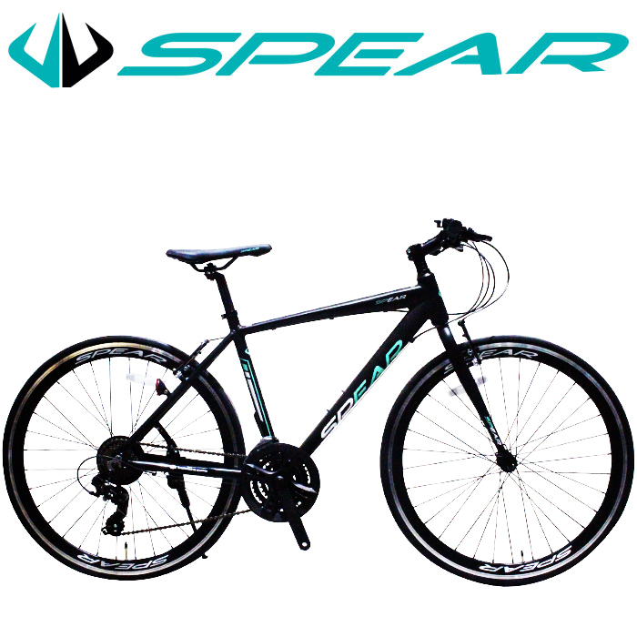 最大3,000円クーポン発行中 クロスバイク アルミフレーム 700c 自転車 シマノ 変速 21段 SPEAR ( スペア ) SPCA-7021 ディレーラ Tourney ( ターニー ) 適用身長160cm以上 男性 女性