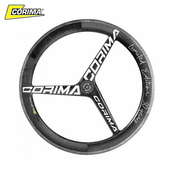 CORIMA(コリマ) 3スポーク WS TT HM (ロード/フロント/ディスクブレーキ) CeramicSpeedセラミック 100x12mmスル―アクスル フロントホイール ・日本正規品