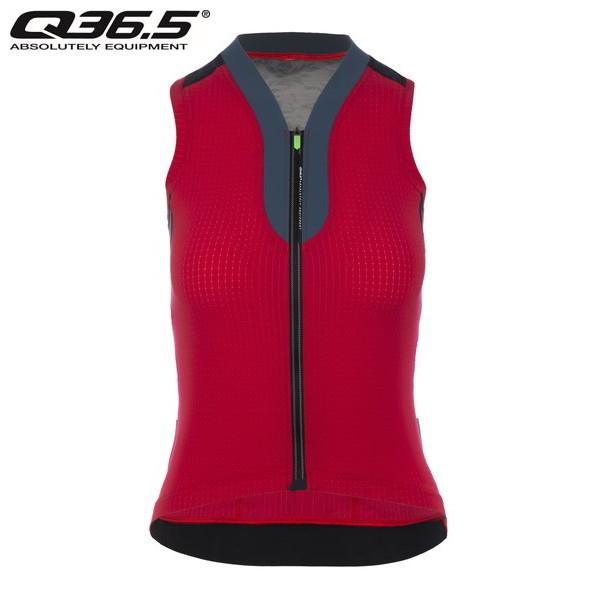Q36.5 Jersey Short Sleeve L1 Woman Pinstripe  N/S ジャージィ L1 ウーマン ピンストライプ  レッド  2020年SSモデル・日本正規品