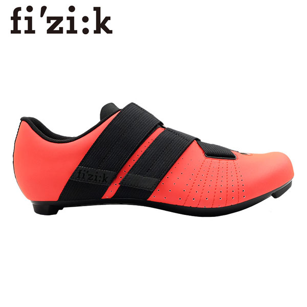 FIZIK/フィジーク R5 TEMPO POWERSTRAP Coral/Black R5テンポパワーストラップ コーラル/ブラック ビンディングシューズ SPD-SL 現品特価