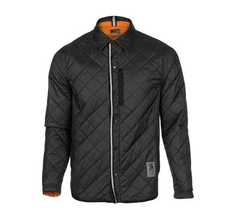 現品大特価 マーケット CROHME クローム 格安激安 リバーシブル ウォーム ワークシャツ ジャケット ブラック オレンジ