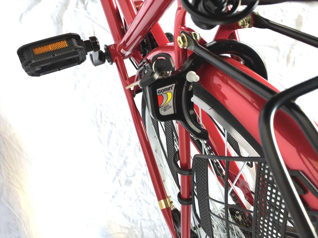 通販 激安 シティサイクル 配送先一都三県一部地域限定 26インチ LECIEL ブラック ギア�き オートライト おしゃれ ルシール 自転車 サントラストママチャリ6段変速ギア かぎ�き