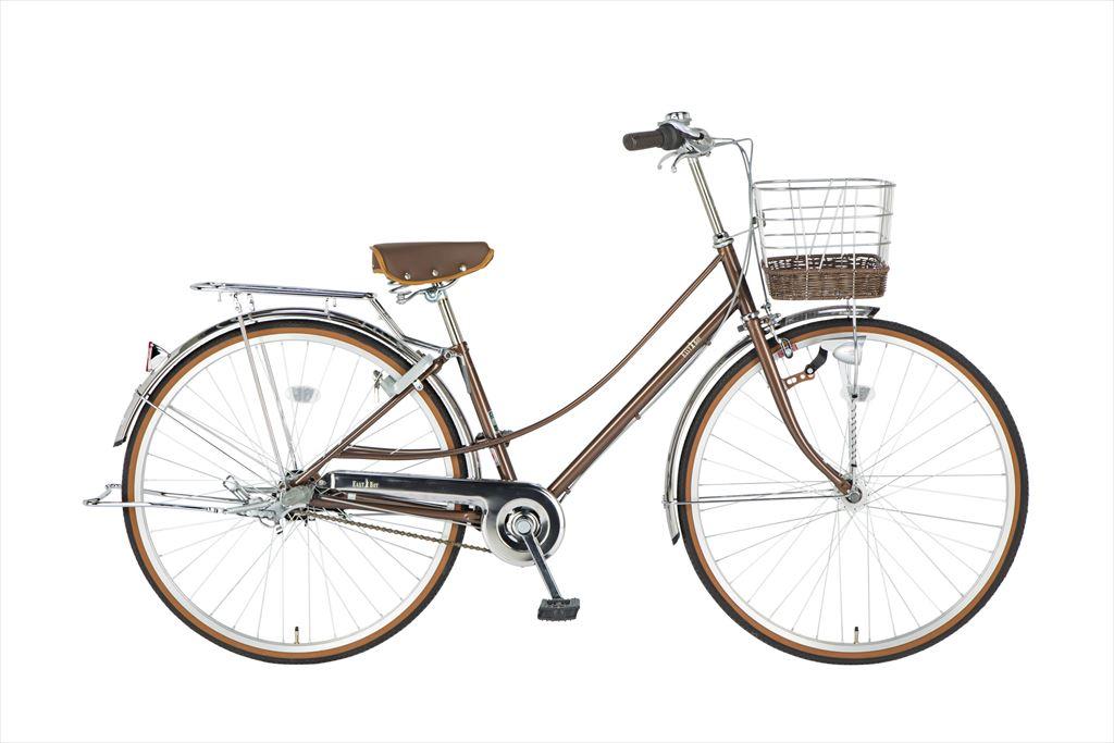 イーストボーイ デラックス 自転車 27インチ シティサイクル 自転車 女子高生 女子中学生、女子小学生の通学に最適 2018年モデル ママチャリ シティ車 内装3段ギア ローラーブレーキ LEDオートライト EASTBOY BAA EB273DX ブラウン 女の子 おしゃれ