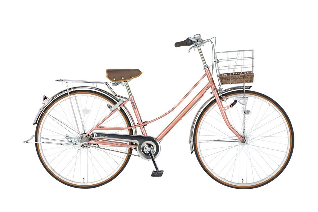 配送先一都三県一部地域限定 イーストボーイ デラックス 自転車 27インチ シティサイクル 自転車 女子高生 女子中学生 2018年モデル ママチャリ シティ車 内装3段ギア ローラーブレーキ LEDオートライト EASTBOY BAA EB273DX ピンクゴールド 女の子 激安