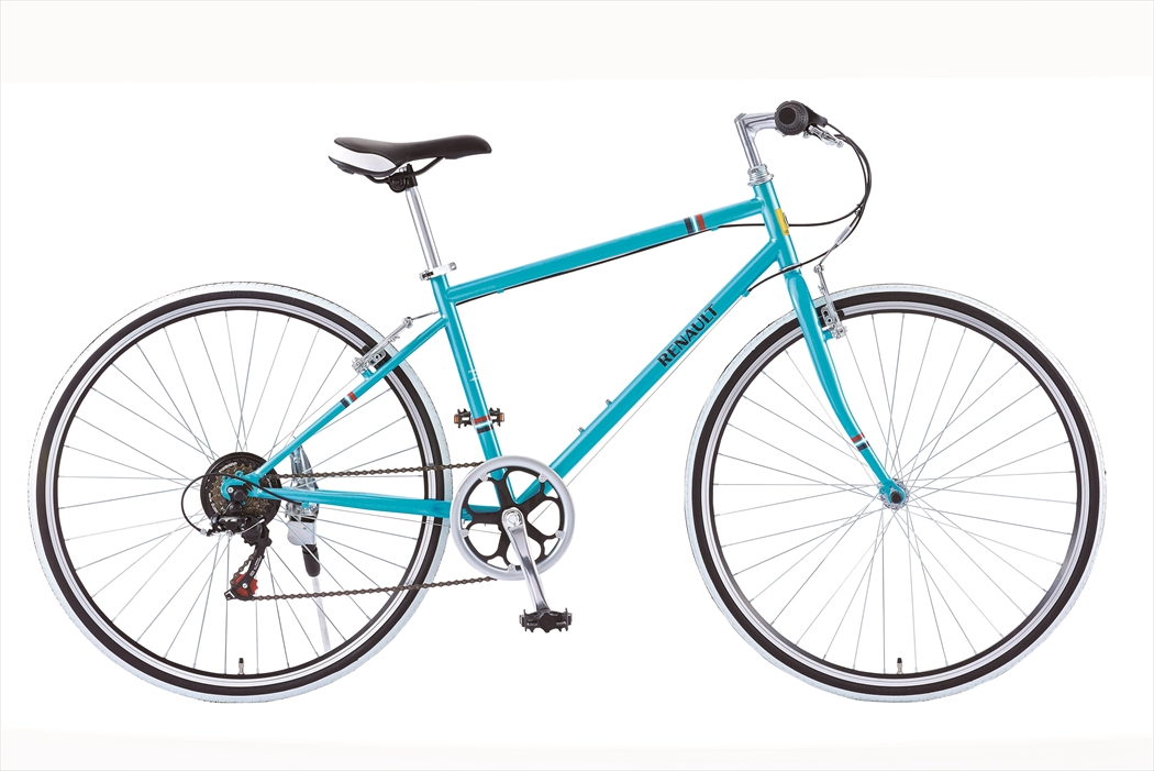 配送先一都三県一部地域限定送料無料 自転車 ルノー CRB7006S 外装6段変速ギア付き 軽量 クロスバイク 700c 青 ブルー 自転車 RENAULT ルノー 自転車 クロスバイク おしゃれ