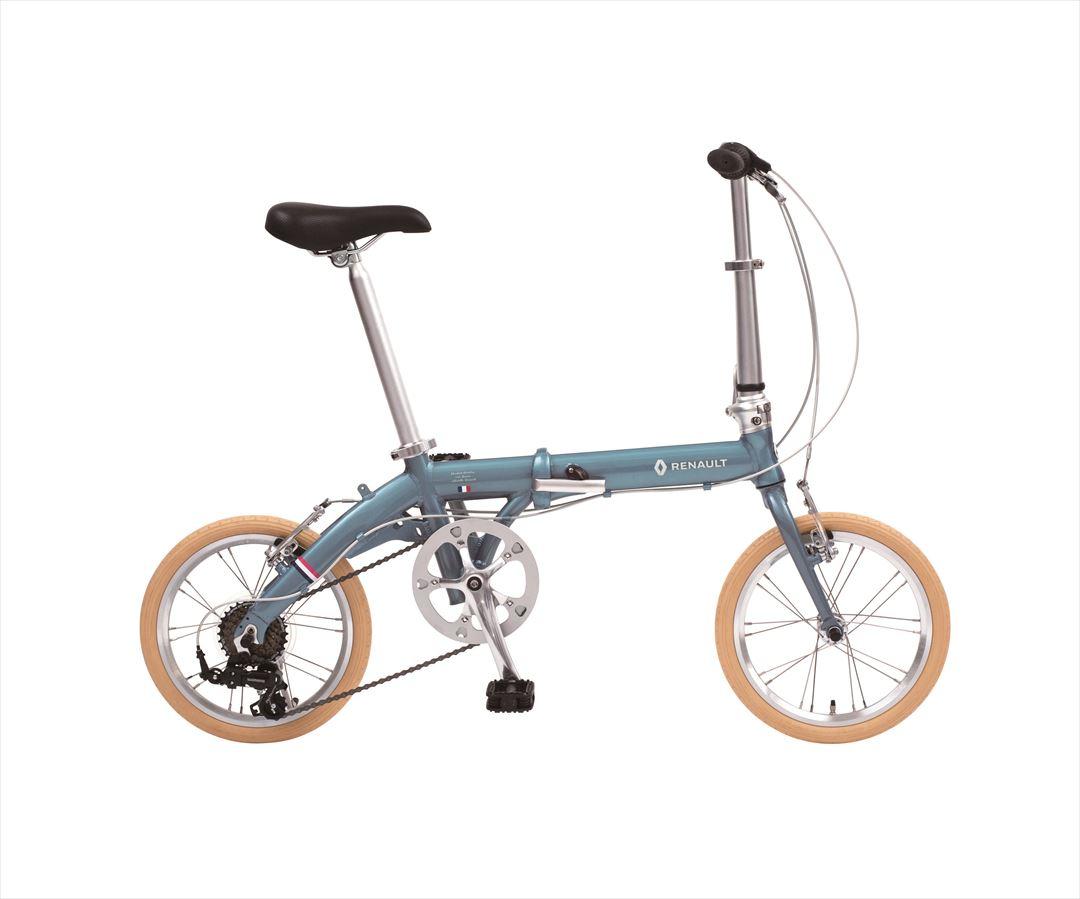 2018年モデル 自転車 ルノー RENAULT 自転車 折りたたみ自転車 ラグーンブルー 16インチ 軽量 6段ギア 折りたたみ自転車 ルノー LIGHT9 Nouveau AL-FDB166 変速付き おしゃれ