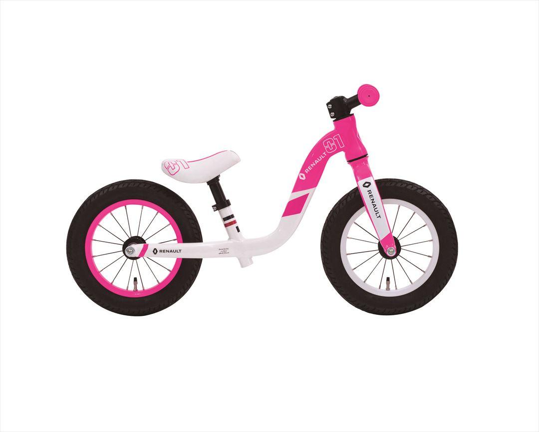 配送先一都三県一部地域限定送料無料 ルノーウルトラライト トレーニングバイク トレーニー 2.5~5歳 RENAULT ULTRA LIGHT TRAINEE 自転車 子供用 ピンク 12インチ キックバイクキッズ 自転車 ジュニア 女の子 通販 おしゃれ
