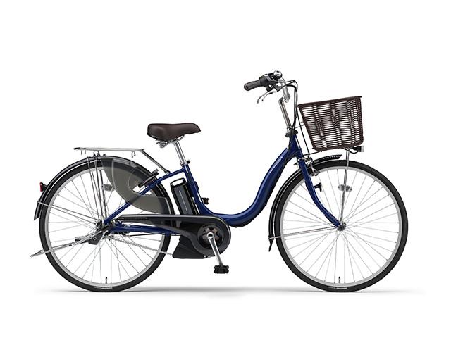 配送先一都三県一部地域限定送料無料 電動自転車 ヤマハ YAMAHA ナチュラM26 X0TF01-0354 26インチ アースブルー 青 電動アシスト自転車 子供 電動ママチャリ 軽量 子供乗せ設置可 シティサイクル おしゃれ