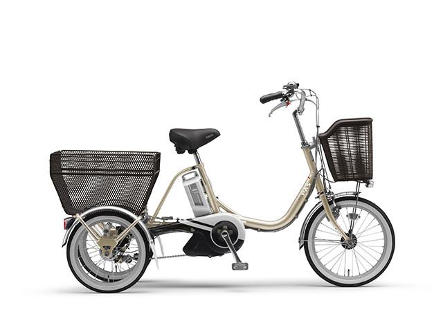 配送先一都三県一部地域限定 電動自転車 三輪 ヤマハ YAMAHA PAS ワゴン 16インチ 電動アシスト自転車 三輪 格安 激安 電動ママチャリ 2018年モデル 送料無料 軽量 X1N101-0347 シャンパンゴールド シティサイクル 安い おしゃれ