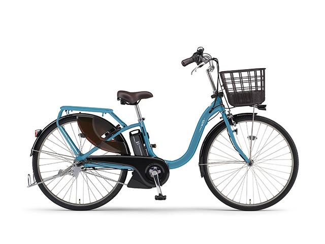 電動自転車 ヤマハ YAMAHA PAS With パス 26インチ 電動アシスト自転車 電動ママチャリ 2018年モデル 軽量 X0U401-010G アクアシアン 青 ブルー シティサイクル おしゃれ