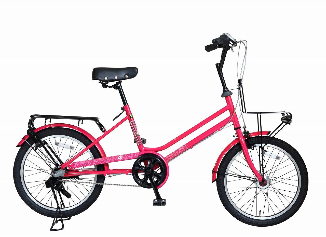 ジェリーベリー ミニベロ 20インチ 自転車 レッド 赤 TJB-203CT-LB 小径車 オートライト おしゃれ