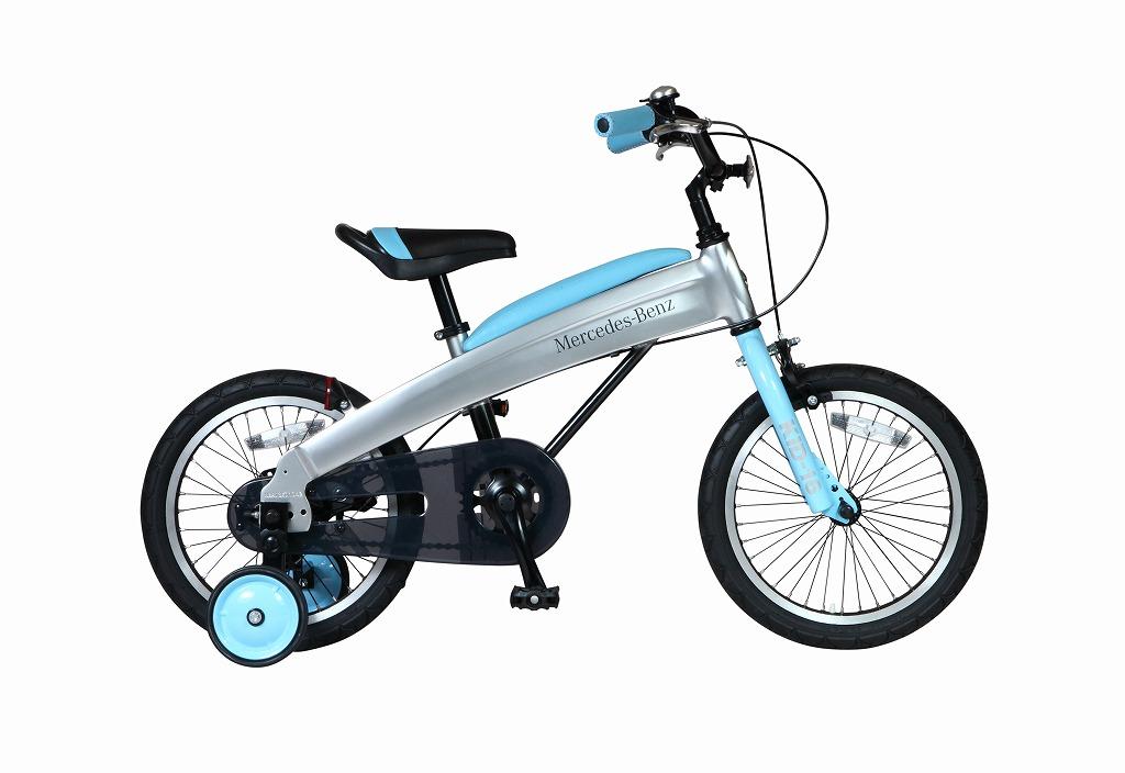 メルセデスベンツ 子供用自転車 Mercedes-Benz Kids-16 16インチ ライトブルー 子供 自転車 アルミニウム アルミフレーム 軽量 子供車 パンクしないタイヤ ノンパンク ジュニア 自転車 キッズ 子供 おしゃれ