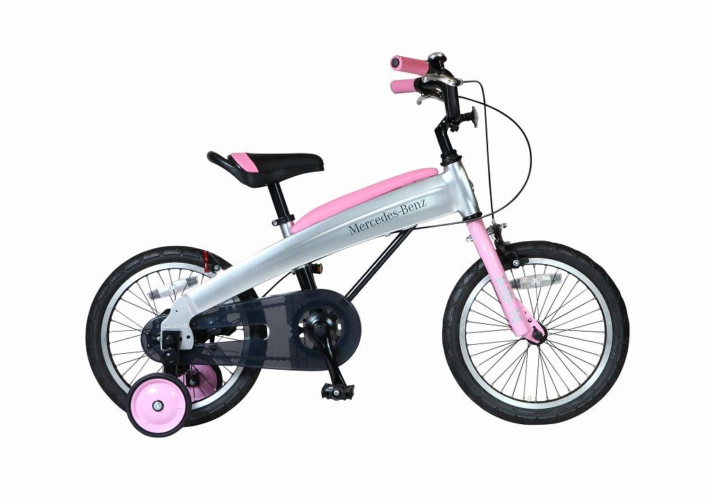 メルセデスベンツ 子供用自転車 Mercedes-Benz Kids-16 16インチ ピンク 子供 自転車 アルミニウム アルミフレーム 軽量 子供車 パンクしないタイヤ ノンパンク ジュニア 自転車 キッズ 子供 おしゃれ