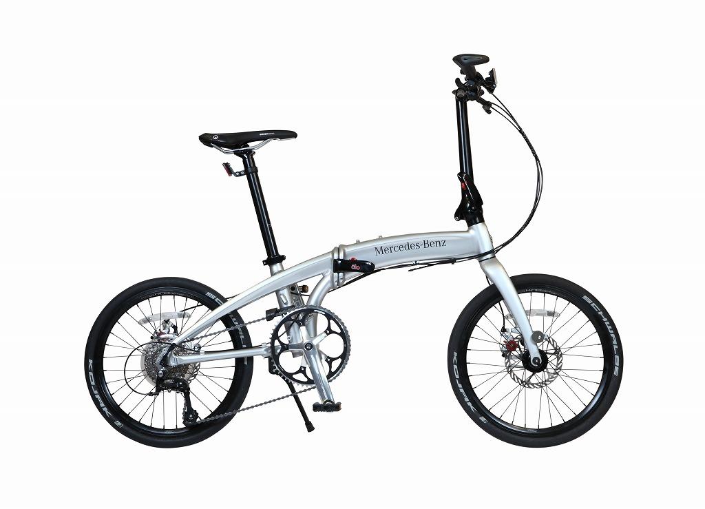 メルセデスベンツ 折りたたみ自転車 Mercedes-Benz Folding Bike MB-20FD-ST9 限定仕様 20インチ 9段変速ギア シルバー ベンツ 折り畳み自転車 アルミニウム アルミフレーム 軽量 おしゃれ