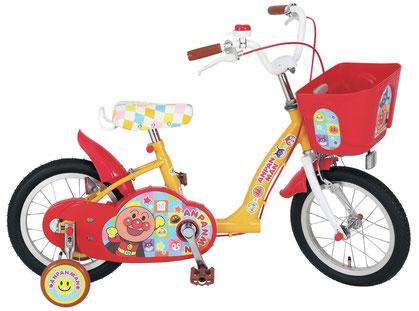 配送先一都三県一部地域限定送料無料 子供用自転車 それいけ! アンパンマン 14インチ 適応身長 95cm~112cm 補助輪付き かご付き 子供自転車 幼児 ジュニア 自転車 キッズ 子供 おしゃれ