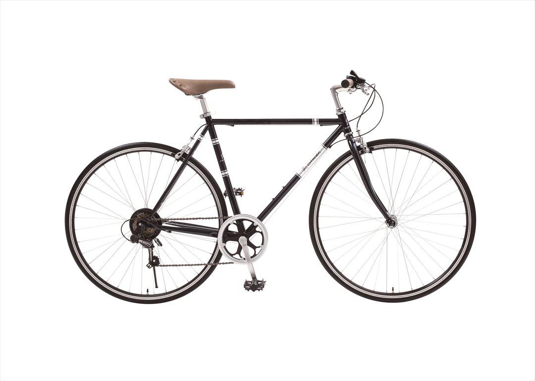 配送先一都三県一部地域限定送料無料 2018年モデル CITROEN TR 7006 シトロエン クロスバイク トレッキングバイク 700c 自転車 軽量 6段ギア ブラック 変速付き おしゃれ