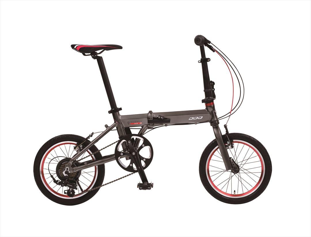 配送先一都三県一部地域限定送料無料 2018年モデル 折りたたみ自転車 マセラッティ MASERATI AL-FDB 167 自転車 16インチ 7段変速ギア おしゃれ 軽量 グレー ギア付 通販 おしゃれ