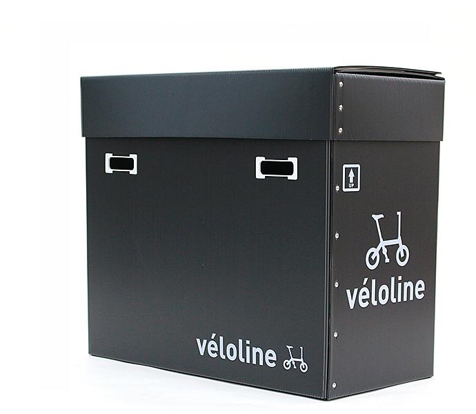 Veloline 収納・デリバリーBOX プラスチック製ダンボール構造の収納 折りたたみ自転車の保管 収納 配送 箱 自転車 おしゃれ