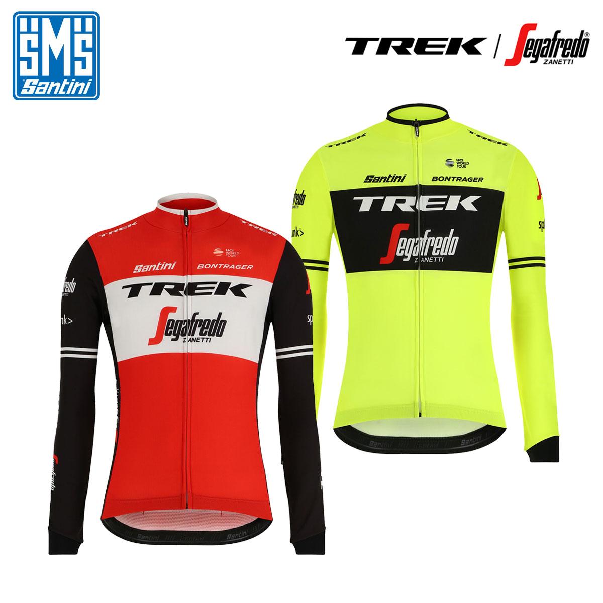 [オープン記念!]【即納】Santini TREK-SEGAFREDO 2019 Pro Team Long Sleeve Jersey サンティーニ トレックセガフレード 長袖ジャージ/サイクルジャージ サイクリングウェア サイクル 自転車