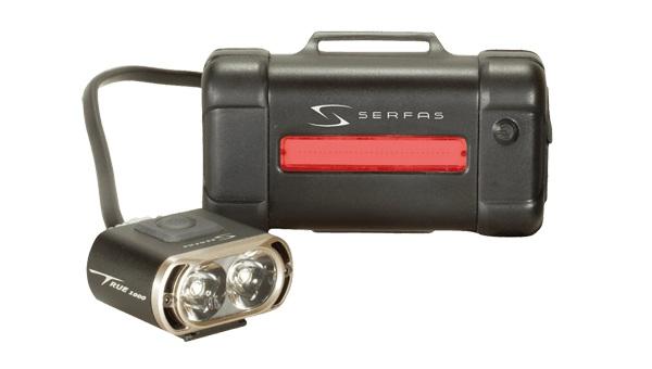 SERFAS サーファス TSL-1000 1000ルーメンフロントライトと35ルーメンテテールライトのセット ヘッドライト ライト リアライト ヘルメット取付 明るい 自転車通勤 サイクリング MTB
