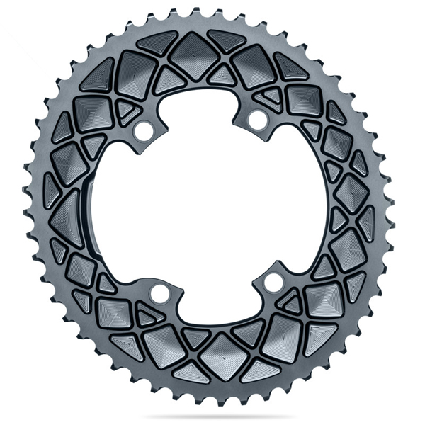 Absolute Black(アブソリュートブラック) 楕円形 チェーンリング Ovalチェーンリング ROAD 52T 9100/8000系 グレー ROV9100/52/4GR