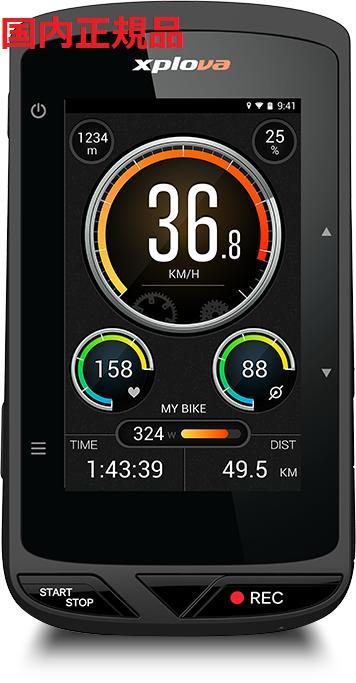 Xplova X5-EVO エクスプローバ カメラ機能搭載 GPSサイクルコンピューター 日本国内正規品 自動録画 サイコン ロードバイク 自転車 X5EVO