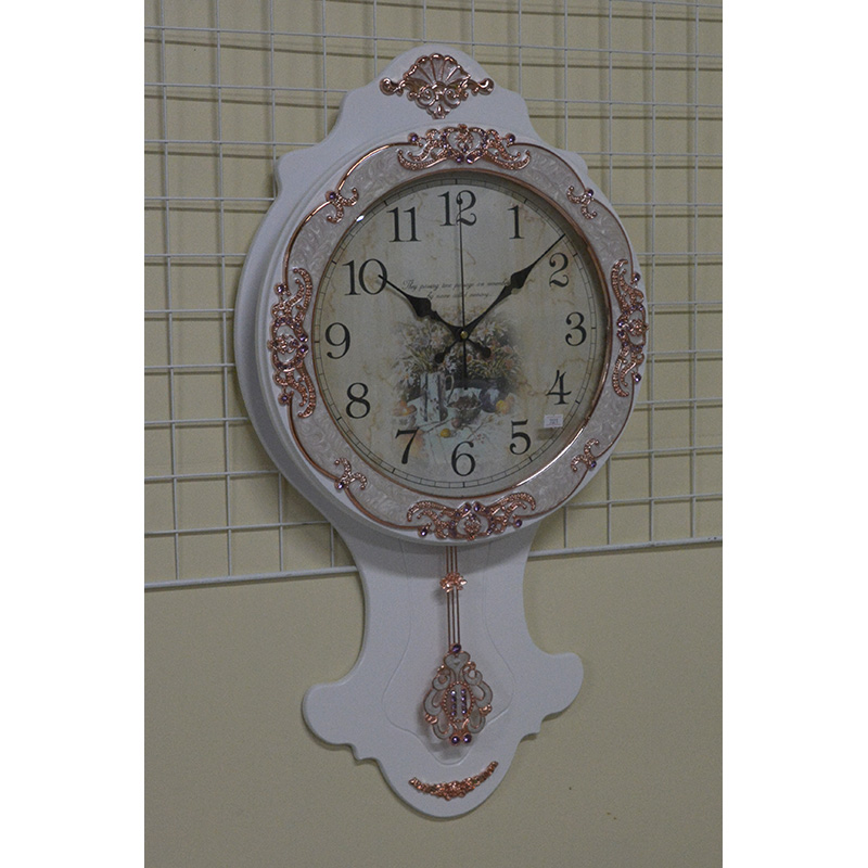 【ギフ_包装】 輸入雑貨:キラキラとゴージャスな白い振り子時計:7021wh【送料無料】, enzo_produce:805f0a6f --- canoncity.azurewebsites.net