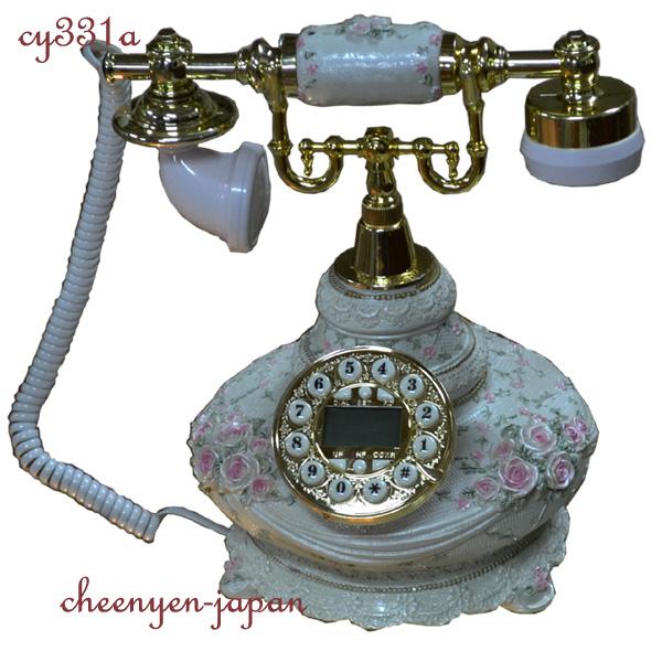 ロココ調!薔薇の電話機:cy331a【送料無料】