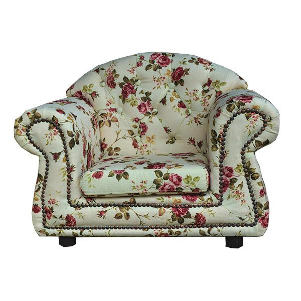 輸入家具:子供家具:プリンセス:1人掛け:ニューローズ【送料無料】