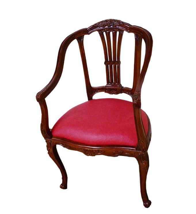 マホガニー家具:ローズアームチェア 送料無料 ch322