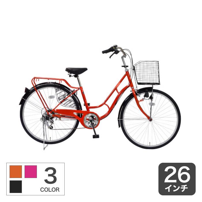 6/15から 当店ならポイント最大55倍 自転車26インチ シティサイクル おしゃれ ギア付 CURIOUS(キュリオス) ポイント20倍