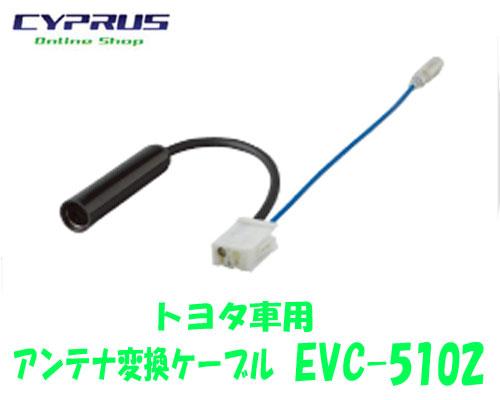 誕生日/お祝い ペイ取付 接続アクセサリー ENDY 東光特殊電線 EVC-5102 トヨタ車用:0.2m FMモジュレーターの接続時はEVC-5002と併せてご使用ください 使い勝手の良い アンテナ変換ケーブル