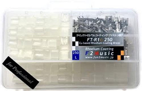 ダイレクトロジウム・コーティング FT-R1c 250 for Professional ファストン端子バルクセット L(250規格)各40個入り 後入れ絶縁スリープ付 14AWG相当 平型スピーカー端子・リレーに最適!