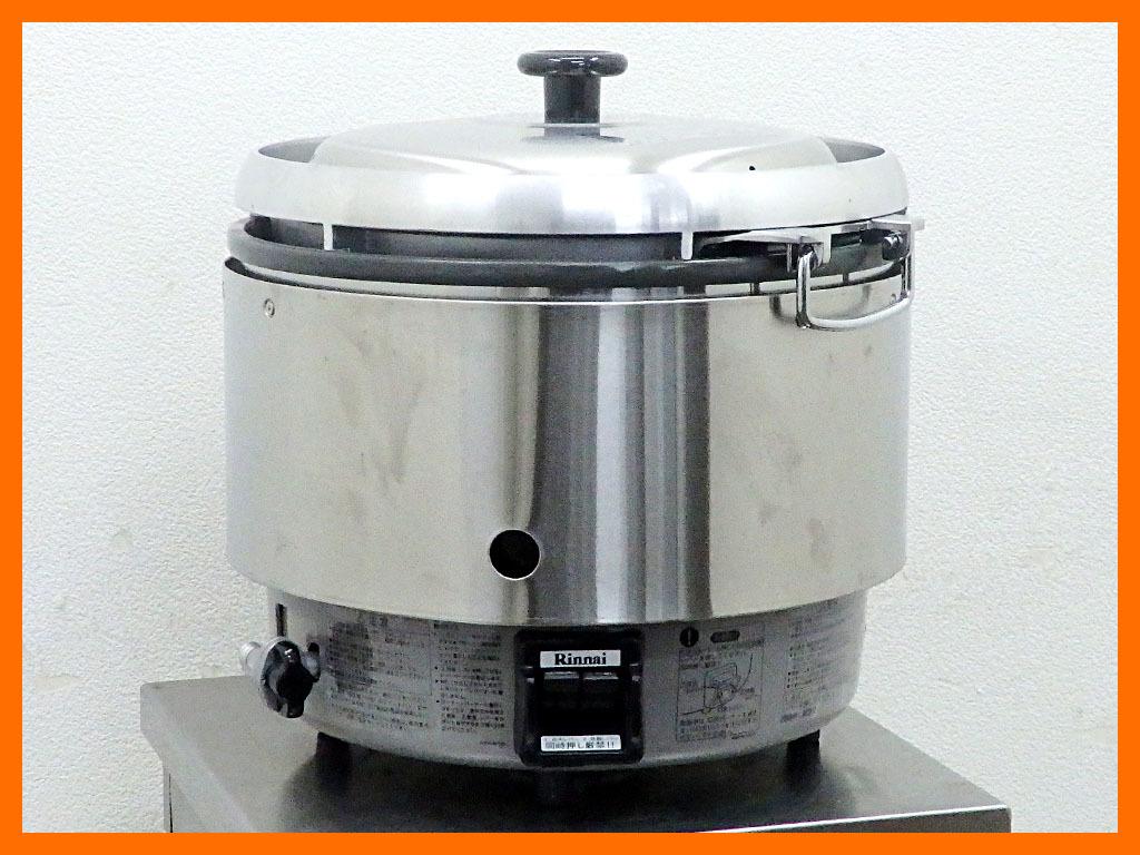 D1589 2017年製 リンナイ 業務用ガス炊飯器 RR-30S2/都市ガス(3升)5万【中古】
