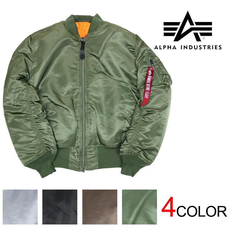 【ALPHA】アルファ ALPHA INDUSTRIES MA-1 フライトジャケット シガレットポケット アウター メンズ ミリタリージャケット 定番