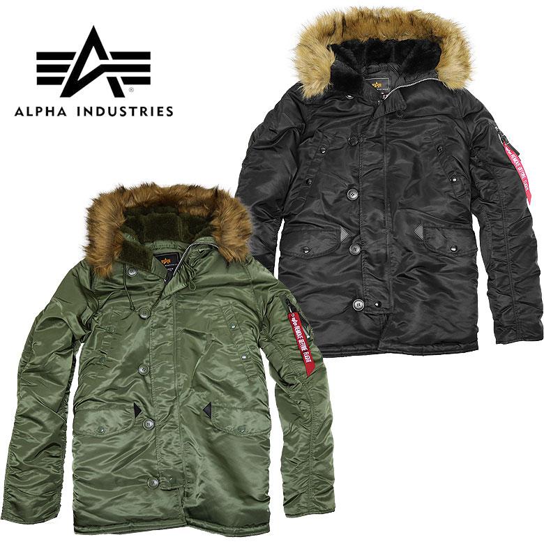 【ALPHA】アルファN-3Bタイトフライトジャケット メンズ 送料無料 ファー ボア ブルゾン ジャケット アウター 防寒 あったか