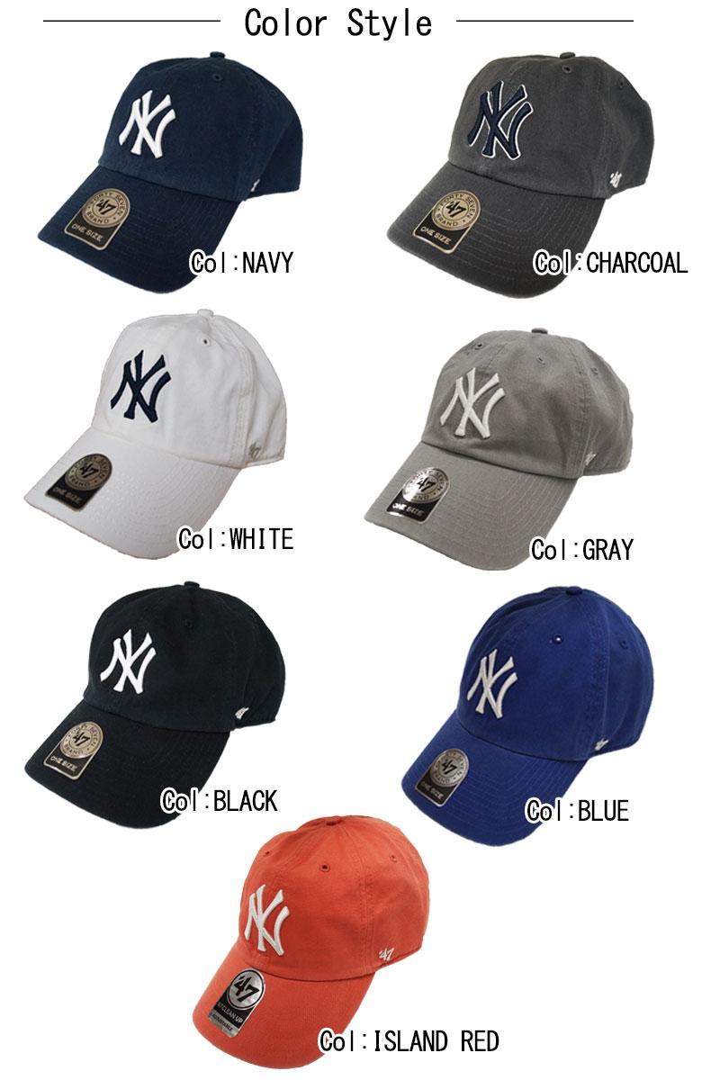 포 티 세븐 브랜드 CLEAN 캡 YANKEES 47 CLEAN UP CAP 모자 그레이 차콜 네이 비 화이트 블랙 레드 NY 클래식 빈티지 캐 쥬얼 영어