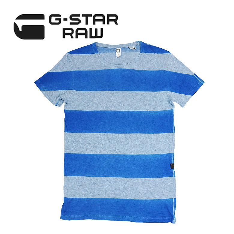 【G-STAR RAW】ジースター ロウ SPRAYED STRIPE SPECIAL R T S/S 半袖Tシャツ リラックスフィット メンズ カジュアル スーパーソフト マーブル仕上げ