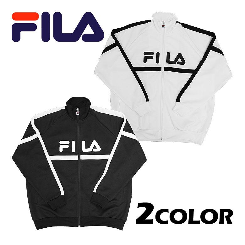 【FILA】フィラ ジャージジャケット 吸水速乾 ベーシック スポーティ 切り替え プリント ロゴ メンズ