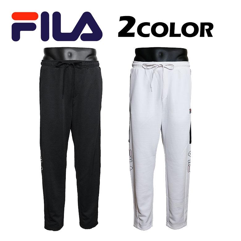 【FILA】フィラ TRACK PANTS トラックパンツ 吸水速乾 トレンド スポーティ レトロ プリント ロゴ メンズ