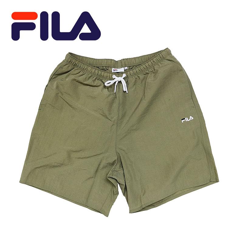 【FILA】フィラ ナイロンハーフパンツ ショーツ 撥水 はっ水 スポーティ シンプル 刺繍 ロゴ メンズ