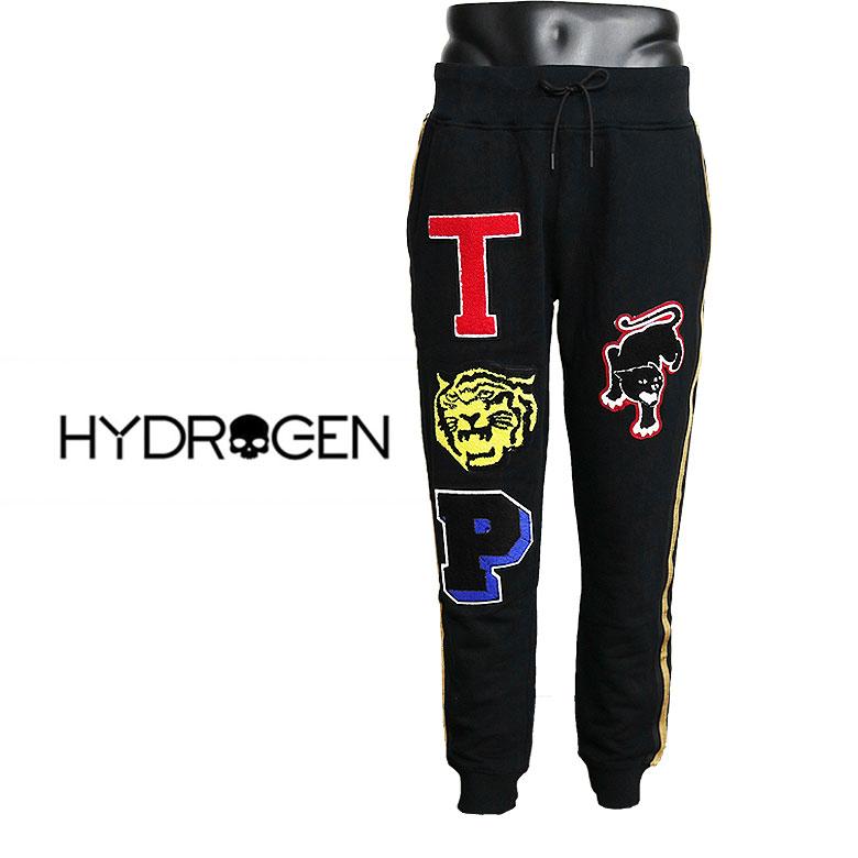 【HYDROGEN】ハイドロゲン LTD SWEATPANTS リミテッドスウェットパンツ コットンミニ裏毛 オリジナルワッペン スウェットクロス ハイセンス