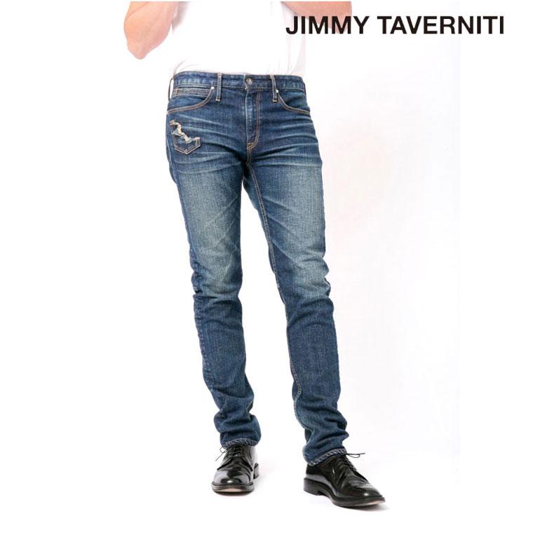 【JIMMY TAVERNITI】ジミータバニティ デニム スリム スキニー デニム メンズ パンツ ジーパン ジーンズ デニムパンツ ボトム おしゃれ かっこいい アメカジ ブランド 大きいサイズ