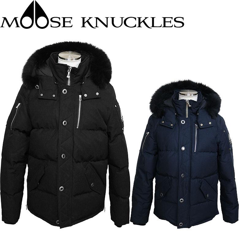 【MOOSE KNUCKLES】ムースナックルズ 3Q JACKET ダウンジャケット ダウンパーカ ブラックファー フード(取外し可能) ラグジュアリー 都会的