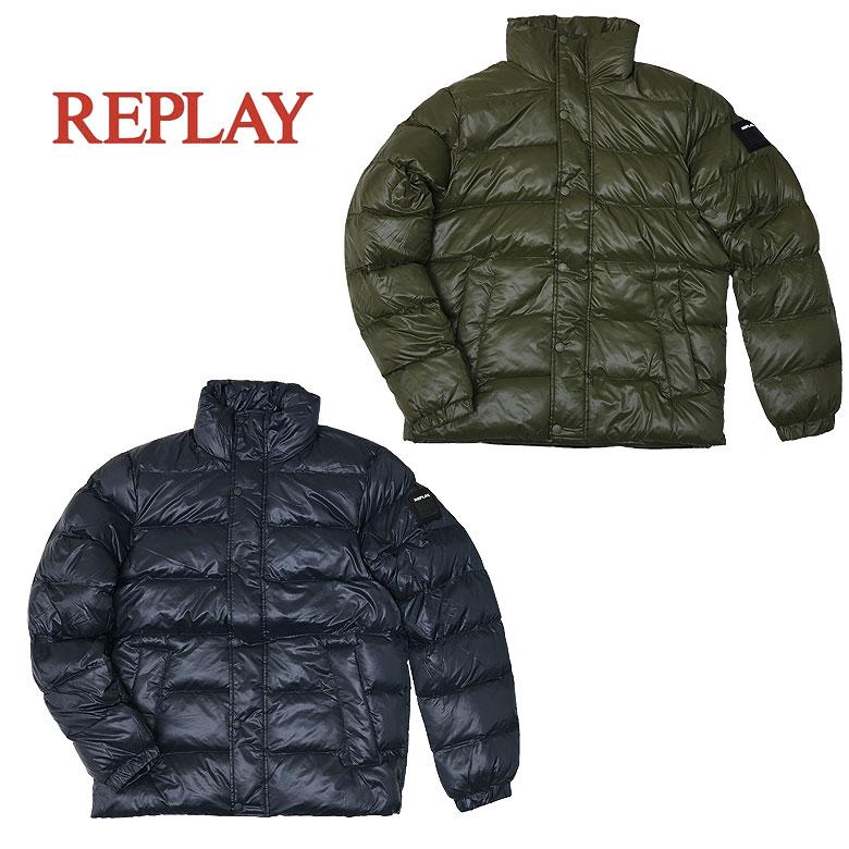 【REPLAY】リプレイ ダックフリーエコダウンジャケット ダックフリー アウター 保温性 アレルギーフリー メンズ
