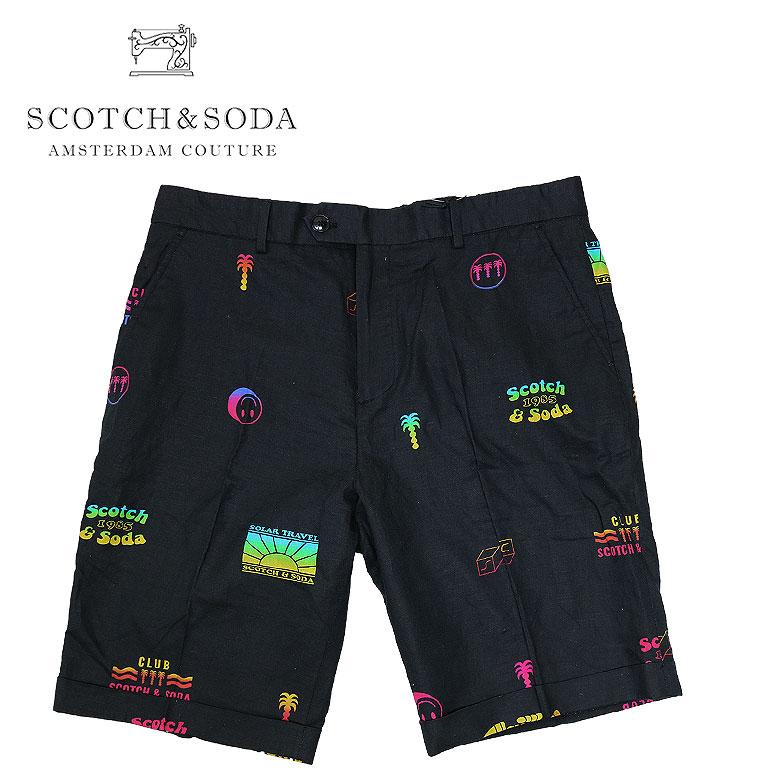 【SCOTCH&SODA】スコッチアンドソーダ Printed Bermudas ショートパンツ ハーフパンツ ショーツ メンズ カジュアル 70年代風 グラフィックプリント