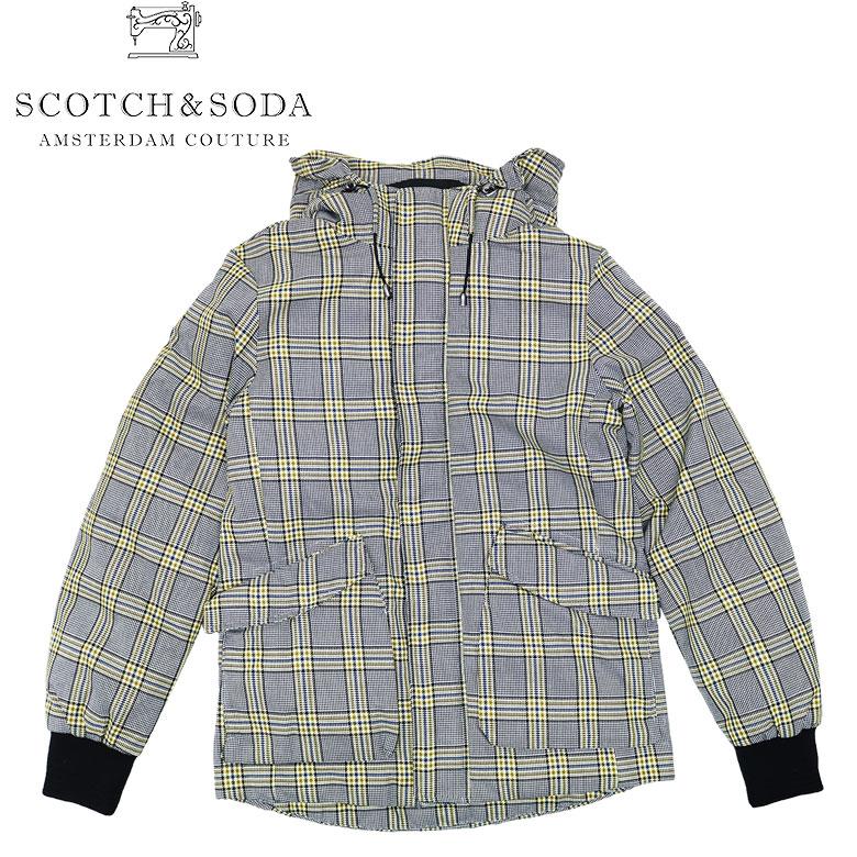 【SCOTCH&SODA】スコッチアンドソーダ Checked Jacket パッド入りジャケット 中わたジャケット チェック柄 ポーチポケット メンズ